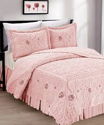 Faux Fur King Size Blanket Faux Fur Ribbon Embroidery Bedspread Set Bnf Home Inc