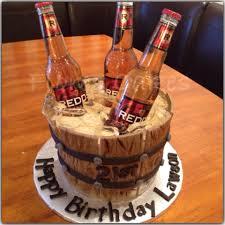 redds apple ale beers in a cake bucket ice is homemade sugar