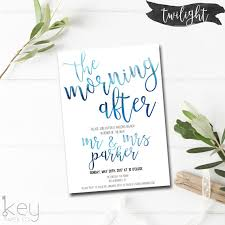 morning after wedding brunch invitations the morning after post wedding brunch invitation wedding