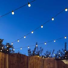 Festoon Lighting Outdoor Outdoor Festoon Lights Connectable Warm White Leds Frosted Bulbs