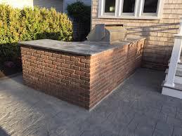 outdoor brick kitchen interiors design