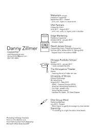 resume u2014 danny zillmer