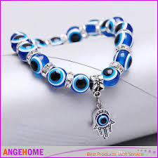 evil eye hand bracelet images Fashion simple evil eye hamsa hand religious charm blue beads jpg