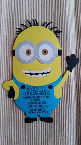 despicable me minion birthday party invitations diecut
