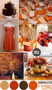 wedding colors autumn wedding color palette brown orange wedding colors