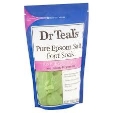 dr teal s pure epsom salt foot soak 2 lb walmart com