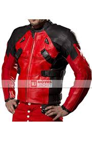 motor leather jacket deadpool motorcycle leather jacket