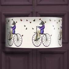 zebra on bicycle lampshade by fabfunky home decor