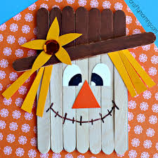 popsicle stick scarecrow craft for crafty morning