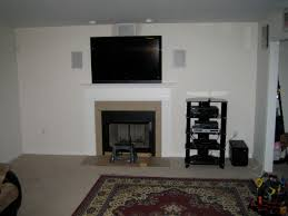 cos cob ct u2013 5 1 surround sound with tv mounted over fireplace