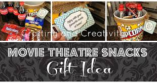 Movie Themed Gift Basket Crafting And Creativity Movie Theatre Snacks Gift Idea