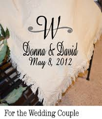 personalized wedding blanket personalized afghans personalized throw blankets personalized