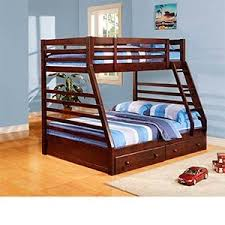Brendan Twin Over Double Bunk Bed With  Storage Drawers On - Double double bunk bed