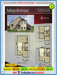 mackinac rochester modular home two story plan price