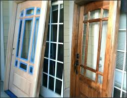 Refinish Exterior Door Wooden Front Doors With Stained Glass Painting Stained Wood Front