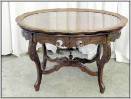 removable tray top table antique coffee table with removable glass tray top coffee table