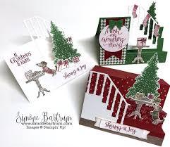stampin u0027 up ready for christmas stamp set and christmas staircase
