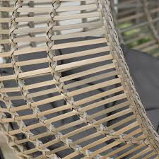 Wicker Patio Furniture San Diego - island bay resin wicker kambree rib hanging egg chair with cushion