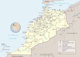 Atlas Mountains Map Map Of Morocco Travel Africa