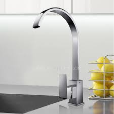 high end kitchen faucets brands high end waterfall single handle gooseneck kitchen faucets