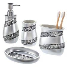 silver bath accessory sets ebay