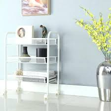 Rolling Bathroom Storage Cart by Capricious Rolling Bathroom Cart 3 Tier Metal Mesh Rolling Cart