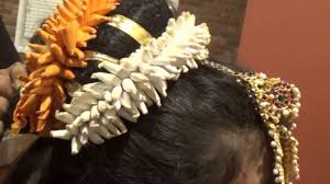 bharatanatyam hair accessories easy kuchipudi hair style