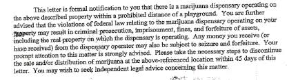 california u s attorneys target pot growers retailers letter to