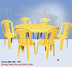 plastic round table and chairs round dining table with armless chair uma plastics limited