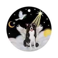 border collie in heaven ornament by prettyornaments