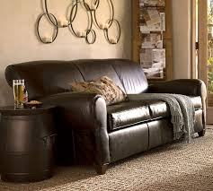 Best Place To Buy A Leather Sofa Manhattan Leather Sofa Pottery Barn