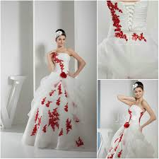 wedding dress white with red flowers wedding dress shops