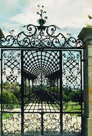 wrought iron gates custom ornamental garden entry gates
