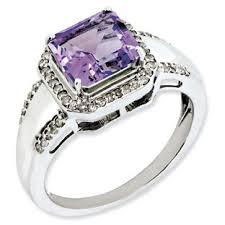 silver amethyst rings images Princess cut amethyst diamond sterling silver ring gemologica a jpg
