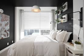 home design glamorous bedroom design with black wall idea plus
