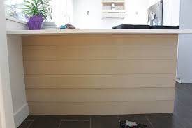 kitchen island wall remodelaholic update a plain kitchen island or peninsula with