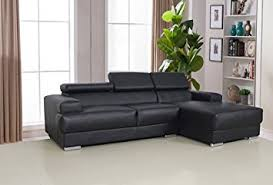 Leather Chaise Couch Amazon Com Us Pride Furniture Gabriel Black Leather Contemporary
