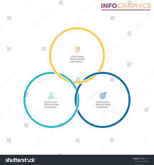 connected circles infographics chart diagram 3 stock vector connected circles for infographics chart diagram with 3 steps options parts