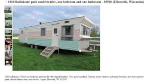 Used Mobile Home Awnings Vintage Moble Homes Vintage 1960 Time Capsule Rollohome Mobile