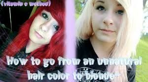 how to go from an unnatural hair color to blonde vitamin c method