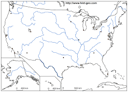 us map w alaska usa blank outline map with rivers and cities alaska and
