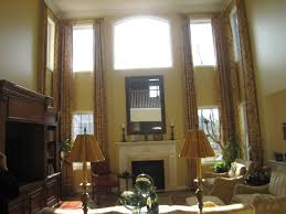 Decorating Ideas For Living Rooms With High Ceilings by Curtains For High Ceiling Living Room Decorate The House With