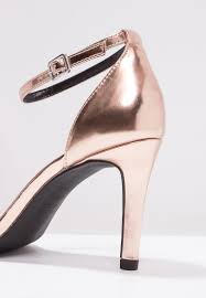 new look wide fit sensatory high heeled sandals rose gold