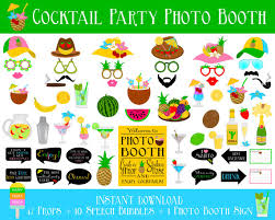 printable photo booth props summer printable cocktail party photo booth props drink props cocktail