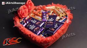 Homemade Gift Baskets For Christmas Gifts Diy Valentines Gift Idea Chocolate Basket Jk Arts 481 U2013 Birthday