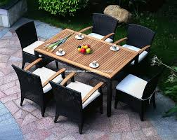 White Patio Dining Table And Chairs Patio Patio Furniture Dining Set Black And White Rectangle