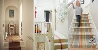tappeto per scale idee creative per decorare le scale con pattern colori e tappeti