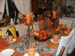 fall decorations warm thankgiving table decoration