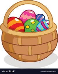 easter egg basket easter egg basket royalty free vector image vectorstock