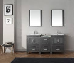 nice small oval bathroom mirror without frame applid above nice